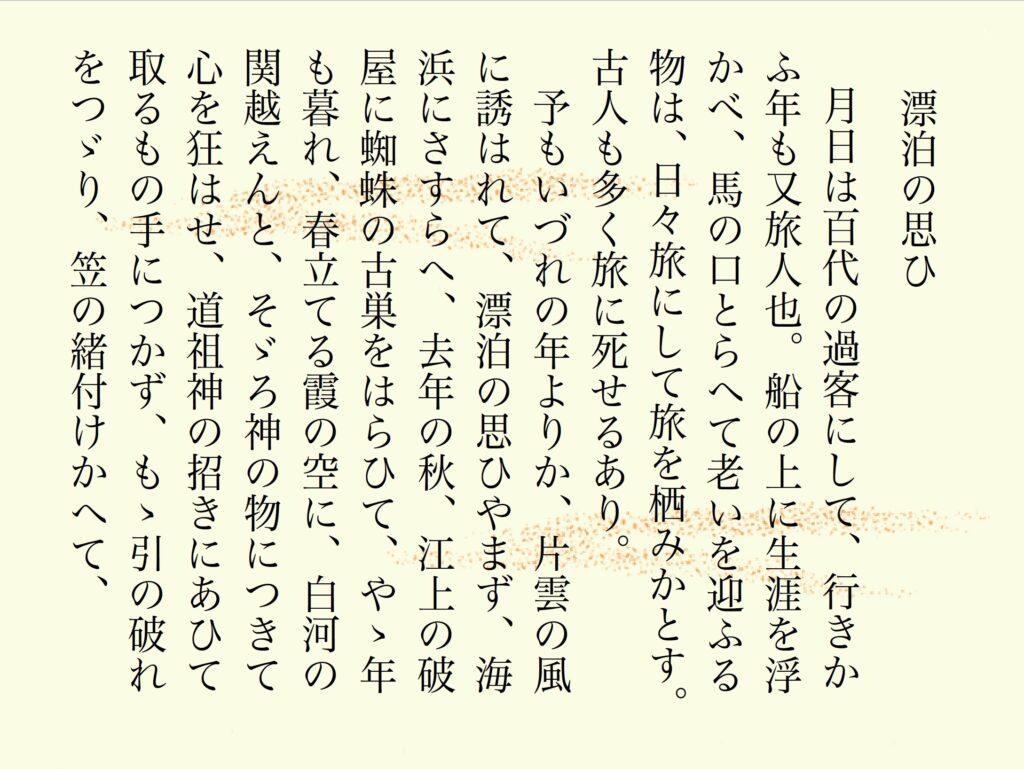 訳 語 奥 細道 現代 の
